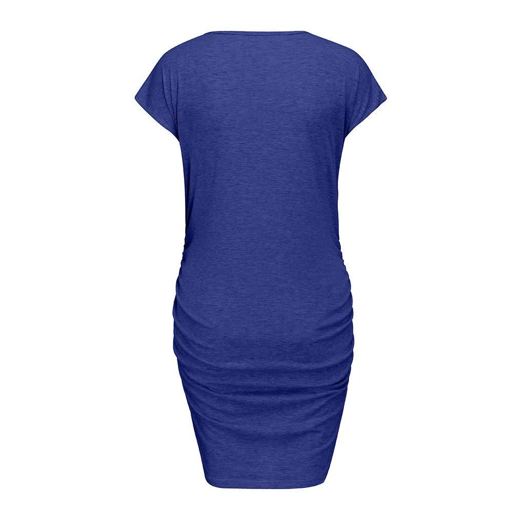 Zerototens Pregnancy Announcement T Shirt Dress,Maternity Clothing for Women Mom Pregnant Sleeveless Baby Peeking Funny Maternity Dress Seamless Bodycon Vest Sundress