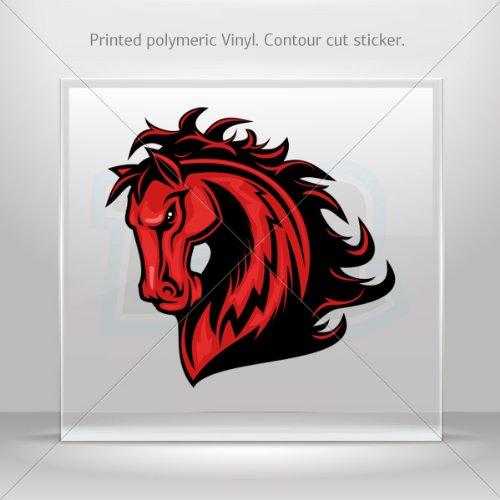 Decals Stickers Power Horse car helmet window Boat jet-ski Garage door 6 X 5.8 Inches Vinyl color print 0600 KR38X
