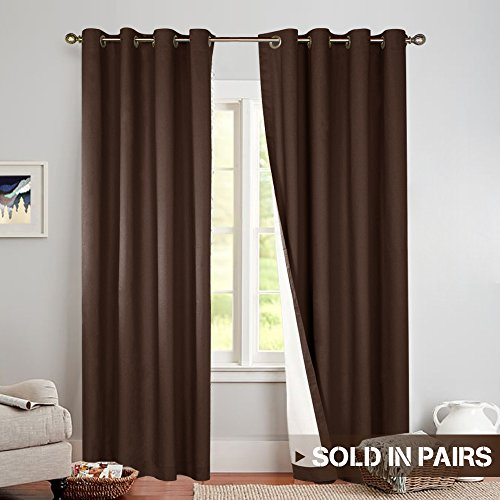 jinchan Blackout Thermal Curtains 84 Inch, Lined Energy Effi