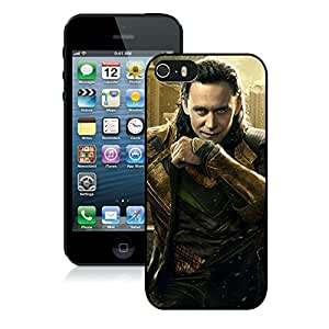 Beautiful Designed Cover Case With Thor Loki Tom Hiddleston 76 iphone 5 5s Black Phone Case