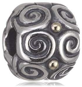 Pandora 790594 - Abalorio de mujer de plata de ley, 1 cm