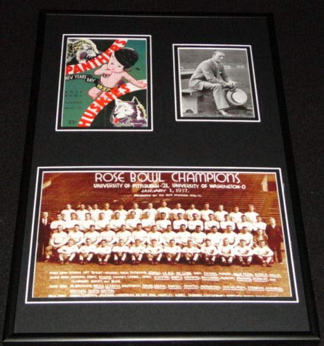 (1937 Pitt Panthers Rose Bowl Framed 12x18 Repro Ticket & Team Photo)
