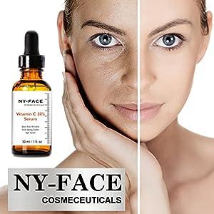 Best Vitamin C Serum -works wonders to repair the effects of sun damage, lighten sun and age spots, smooth and brighten- Vitamin E + Hyaluronic Acid-Natural Jojoba Oil & Arginine - Amino Acid (1 oz)