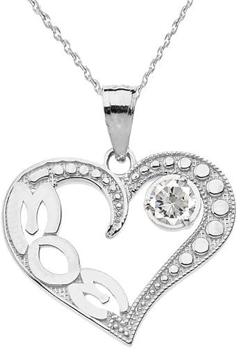 Piedra natal de enero letra inicial plateado plata collar Alfabeto Encanto A a Z