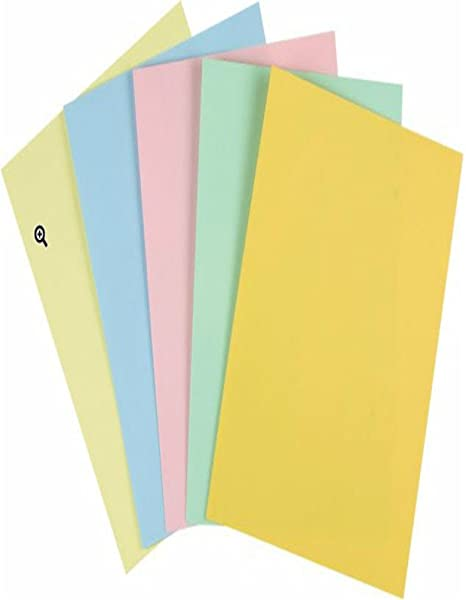 Staples Pastels Colored Copy Paper Assorted 11 X 17 Inch Ledger Size 20lb