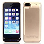 iPhone 5/5S/5C Battery Case 2015 Newest 4200mAh Ultra Slim Rechargeable Extended Battery Case for iPhone 5/5S...