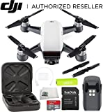 DJI Spark Portable Mini Drone Quadcopter Starters Bundle Alpine White