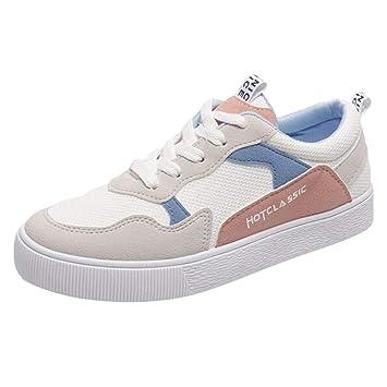 LuckyGirls Zapatillas Lona de Correr Casual Calzado de Deportivos Planos Transpirables Zapatos Moda Bambas de Running para Mujer: Amazon.es: Deportes y aire ...