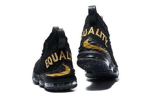 a83cd2a2aa5 2018 Lebron XV Black Gold Quality- Basketball Shoes