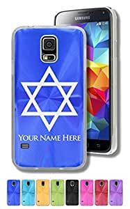 Personalized Case/Cover for Samsung Galaxy S5 - STAR OF DAVID, FLAG OF ISRAEL - Laser Engrave Your Name for FREE