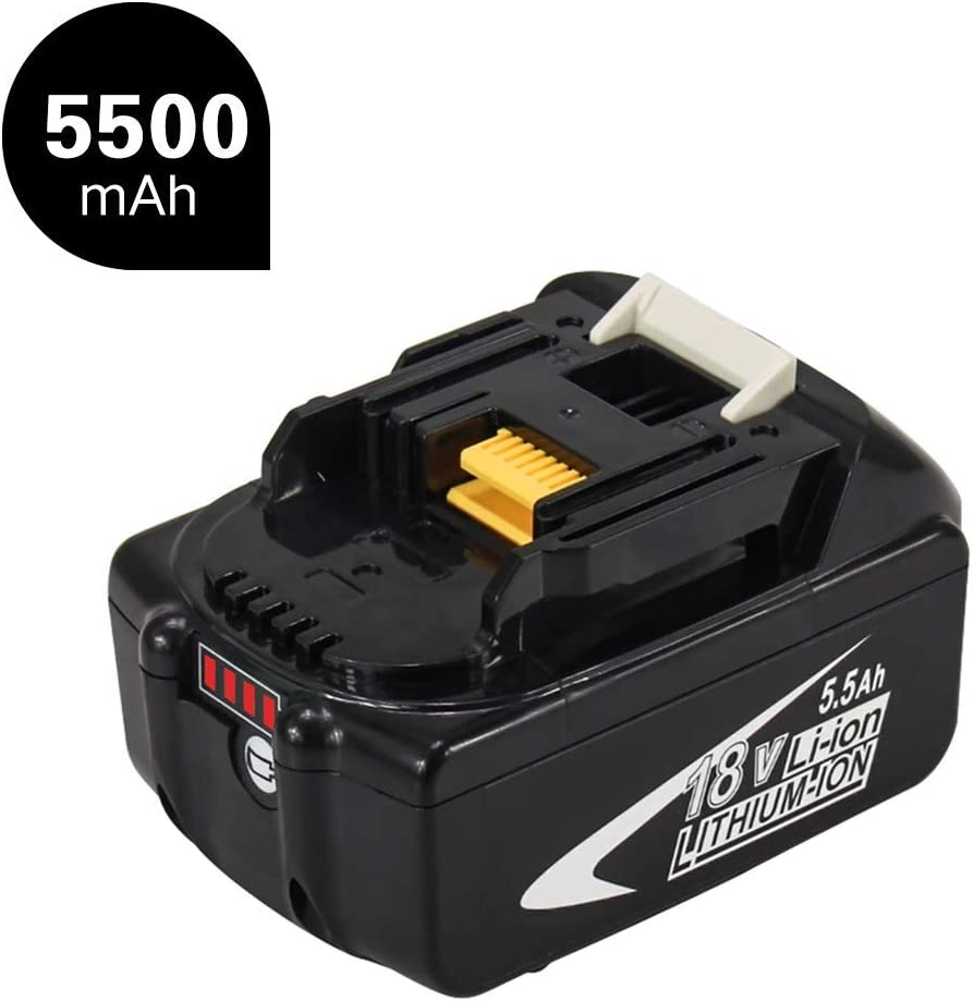 Moticett 18V 5.5Ah BL1860B Reemplazo para batería de BL1850B BL1850 BL1840 BL1830 BL1815 BL1845 BL1835 LXT400 Herramienta eléctrica inalámbrica