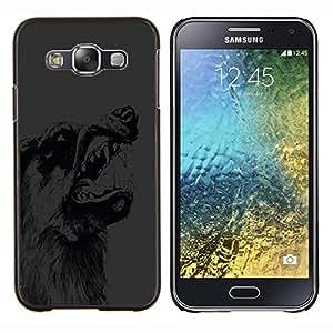 """Be-Star Único Patrón Plástico Duro Fundas Cover Cubre Hard Case Cover Para Samsung Galaxy E5 / SM-E500 ( Scary Gruñido del lobo Perro"""" )"""