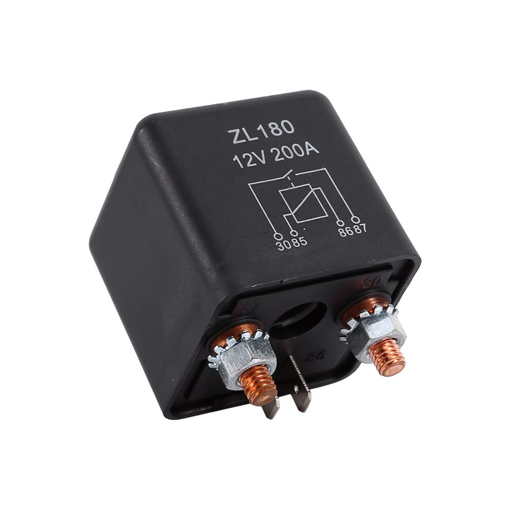 Switch Relay-12V 200A Relais de charge on//off /à charge fendue robuste pour voiture Auto Bateau 200Amp 4 bornes
