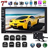 "FidgetFidget Car MP5 Player Touch Bluetooth GPS Navi IR Camera 7"" HD 2 DIN TV FM/USB/TF/AUX"