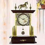 MCC Table clock European Antique Modern Brass Accessories Clock Decoration Living Room Bedroom Mute Bracket Clock , coffee