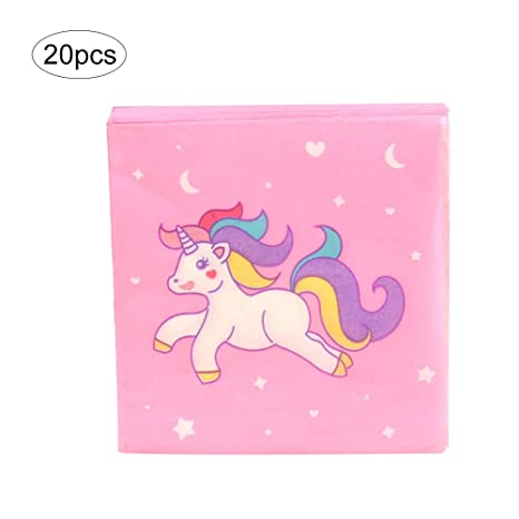 Naisidier Inicio Producto Toalla Impresa Rosado del Unicornio 20 por Paquete