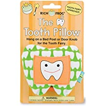 """Rich Frog The Tooth, Tooth Fairy and Tooth Keepsake Pillow, Green - 4"""""""