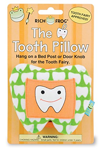 Decorative Hanging Pillow - Rich Frog The Tooth, Tooth Fairy and Tooth Keepsake Pillow, Green - 4