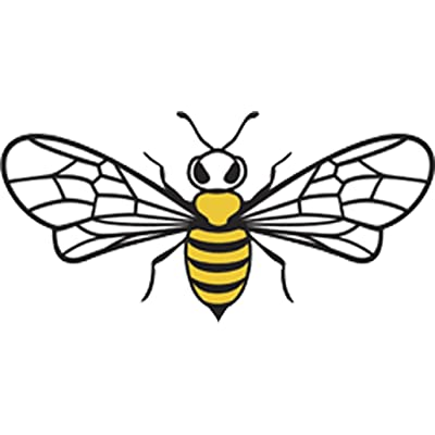"Pretty Assortment of Bumble Bees Cartoon Art Vinyl Decal Sticker (4"" Wide, Bee #1): Arts, Crafts & Sewing"