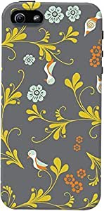 DailyObjects Birds Floral Case For HTC One M8 Cover Grey