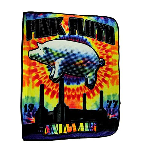 Ramatex Polyester Throw Blankets Pink Floyd Pig Tie Dye Animals Coral Fleece Throw Blanket 60 X 0.25 X 50 Inches Multicolored (Pink Floyd Blanket)