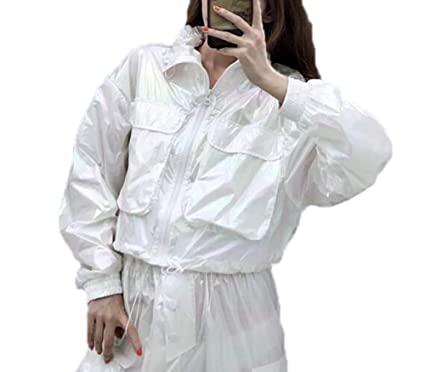 Moda para Mujer Bolsillos Grandes Chaquetas Cortas Color del ...