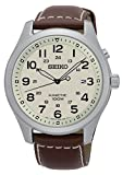 Seiko Kinetic SKA723 Beige Dial Brown Leather Band Men's Watch
