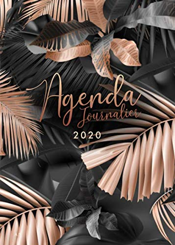 Agenda 2020: 12 mois journalier 2020 - format A5 - janvier à décembre 2020 - planificateur, semainier simple & graphique, motif Feuille de Palmier ... (Fournitures de bureau 2020) (French Edition)