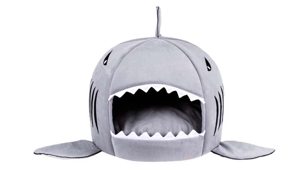 QAZSE Boca De Tiburón Forma De Mascota Nido Cuatro Estaciones Disponibles,M