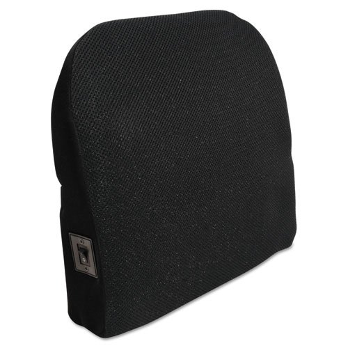 Memory Foam Massage Lumbar Cushion, 12-3/4w x 3-1/2d x 12-1/2h, Black, Sold as 1 Each by Advantus