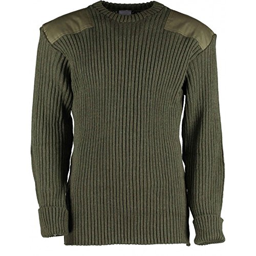 Mens Sweater Neck Medium Large (TW Kempton British Commando Sweater Woolly Pully Crew Neck - Medium)