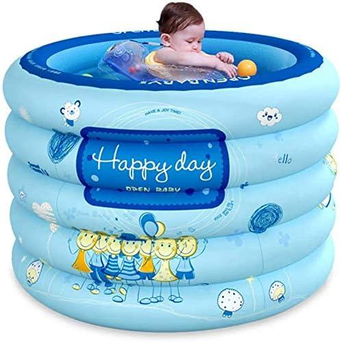 LPing Piscina Hinchable,Piscina Familiar,bañera para bebés,Piscina Plegable con Bomba de Aire y Anillo de baño,PVC Grueso para bebé,Incluye Gorro de champú,Bola oceánica,etc.