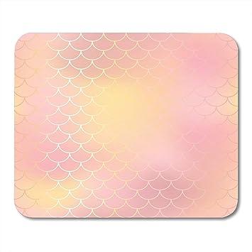 Almohadillas para Mouse Blush Rosa y Naranja Piel de Pescado ...