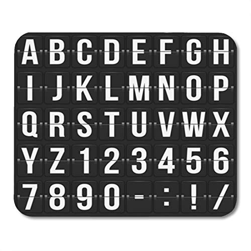 Semtomn Gaming Mouse Pad Alarm of Letters and Numbers on Mechanical Scoreboard Clock 9.5