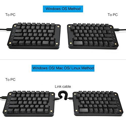 cheap Koolertron Programmable Split Mechanical Keyboard with