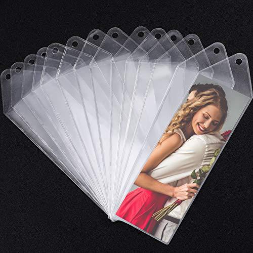 BLULU60 팩 비닐 BOOKMARK 소매 사진이 부스 소매 2-1 | 4X6-1 | 4 인치 결혼식을 위한 2 개의 X6 인치 사진 스트립을 위한 발렌타인 데이 선물(60 팩)