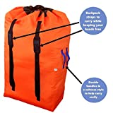 Gate Check Bag for Single & Double Stroller Travel | Extra Large & Ultra Durable - Includes Padded Shoulder Straps for Comfort & Durability - Convenient Design With Storage Pouch – Free Bonus E-Book