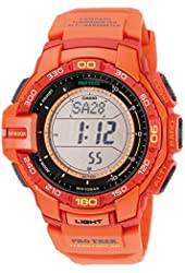 Casio Men's PRG-270-4ACR Pro Trek Red Resin Watch with Red Band