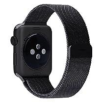 Apple Watch iWatch Milanese Magnetic Loop Black Stainless Steel strap