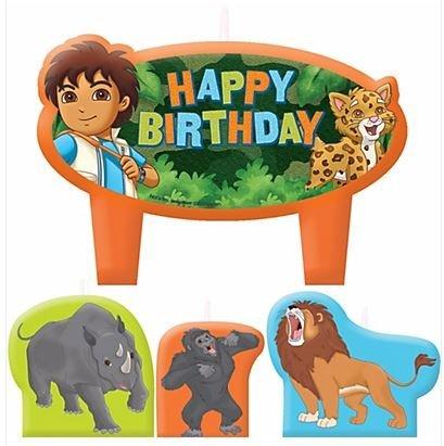 Go Diego Go Birthday Candles - Set of 4 -
