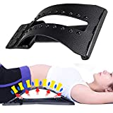 Magic Back Stretcher Lumbar Support Device Relax Mate Spine Pain Relief Chiropractic,Lumbar Stretcher Extender Orthopedic Design for Upper and Lower Back Pain Relief,4 Levels