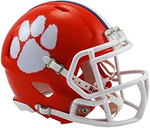 Sports Memorabilia Riddell Clemson Tigers Revolution Speed Mini Football Helmet - College Mini Helmets