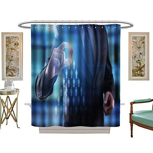 luvoluxhome Shower Curtains 3D Digital Printing Internet and Technology Concept recruitmetn hr Team Build Bathroom Decor Set with Hooks W48 x L84