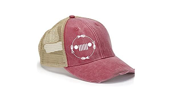 43f7d68ac227b Amazon.com  Cute Jeep Hat with Grill - Trucker Hat- Wrangler Hat  Handmade