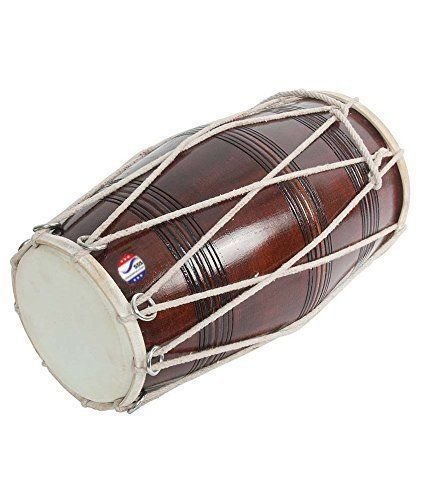 Brown Musical Dholak With Dori Made by sai musical by SAI MUSICAL