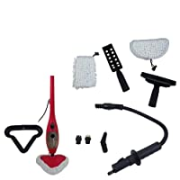 H2O Mop X5 - Nettoyeur Vapeur - Balai Portatif 5 en 1 - Multi-Usages - Poids Plume