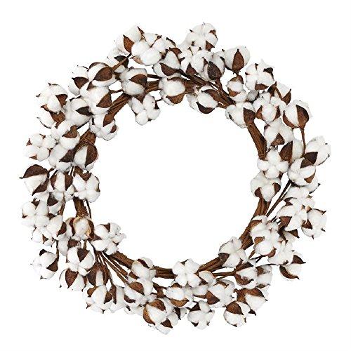 Mud Pie Cotton Wreath Home Accents ()