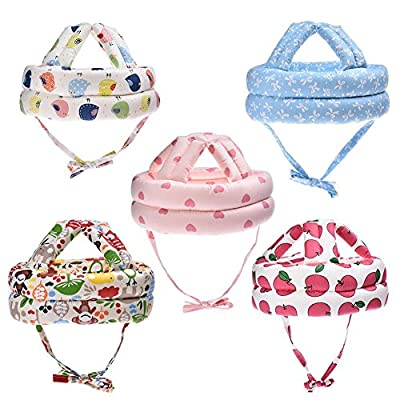 Baby Infant Toddler No Bumps Safety Helmet Cute Lovely Head Cushion Bumper Soft Headguard Bonnet,for Kids 6 Month to 3 Year