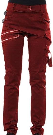 Fly Year-JP メンズロックゴシックパンクリヴィッツカジュアルジーンズパンツズボン
