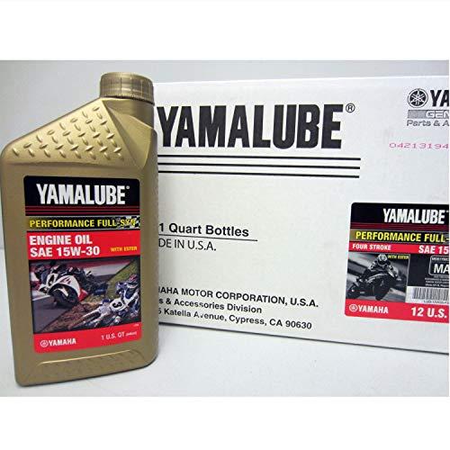 (Yamaha LUB-15W30-FS-12 Yamalube 15W30 Full Synthetic Race Oil Quart; LUB15W30FS12 Made by Yamaha)